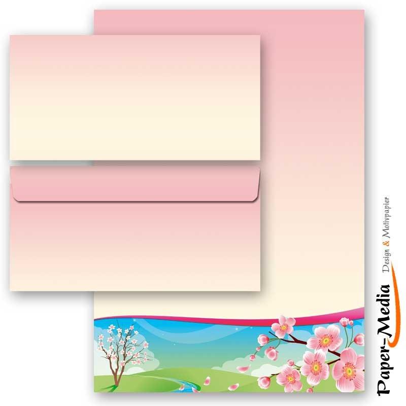 Set ohne Fenster DL Motiv-Briefpapier-Set BLUMENBRIEF 40-tlg