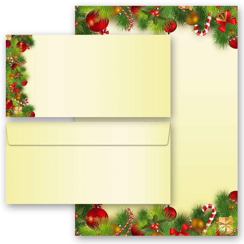 20 tlg briefpapier set weihnachtsgr sse. Black Bedroom Furniture Sets. Home Design Ideas