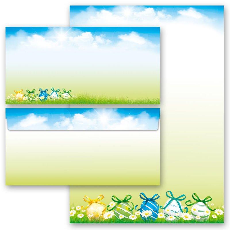 Motiv-Briefpapier OSTERGARTEN DIN A4 Format 20 Blatt