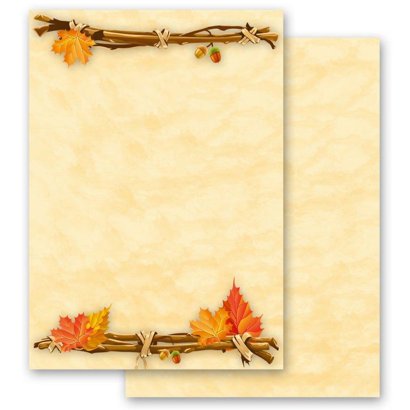 briefpapier sets jahreszeiten  herbst herbstgold