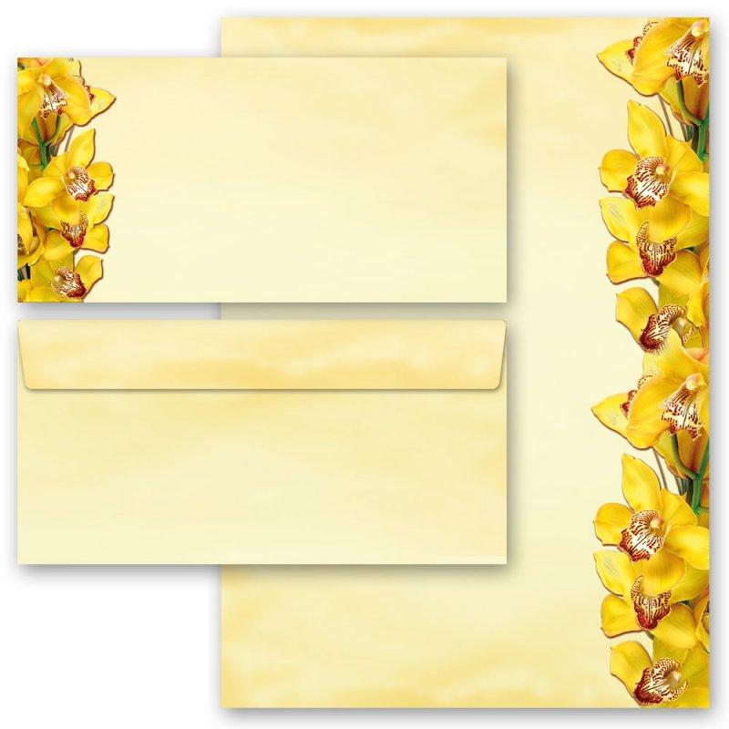GERBERA ohne Fenster DL Motiv-Briefpapier-Set 20-tlg