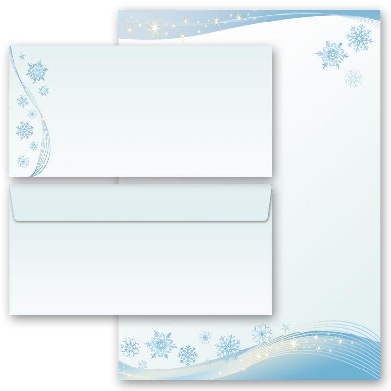 Motiv-Briefpapier SCHNEEFLOCKEN DIN A5 Format 100 Blatt