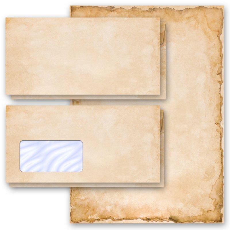 Motiv-Briefpapier-Set UNSERE HOCHZEIT 40-tlg ohne Fenster Set DL