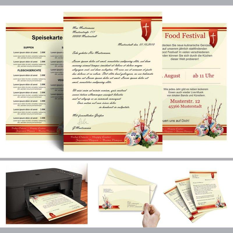 Briefpapier Ostermotiv OSTERWIESE 25 Blatt DIN A4