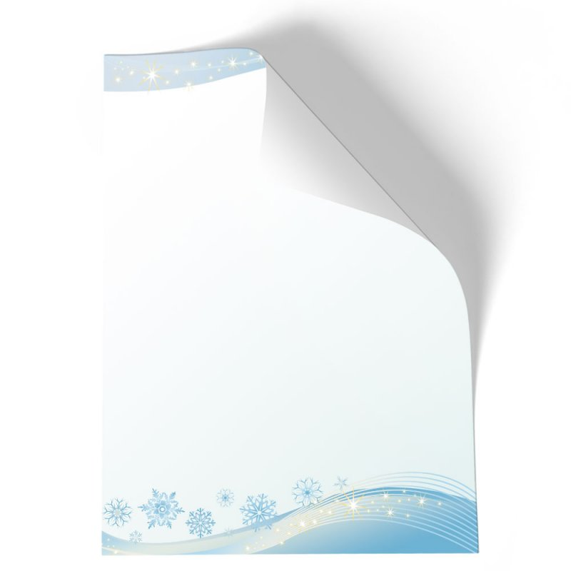 Motiv-Briefpapier SCHNEEFLOCKEN DIN A4 Format 20 Blatt