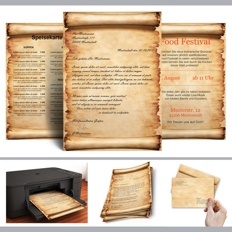 Briefpapier PERGAMENT