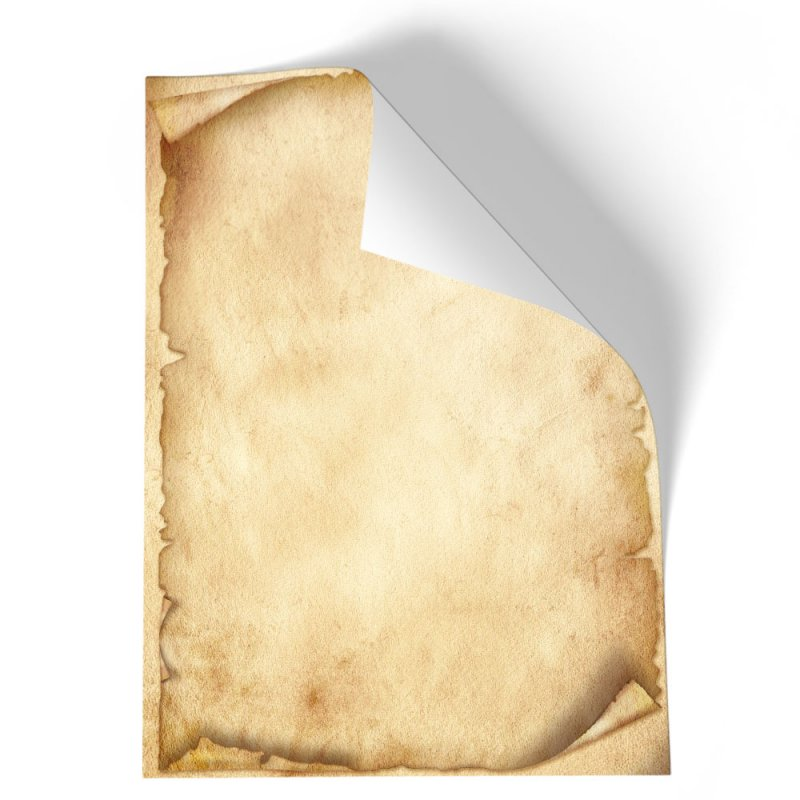 DIN A4 Format 20 Blatt Motiv-Briefpapier GRÜNER PAPAGEI