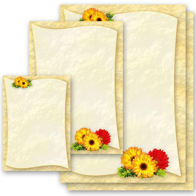 DIN A4 Format 20 Blatt Motiv-Briefpapier MARGERITEN