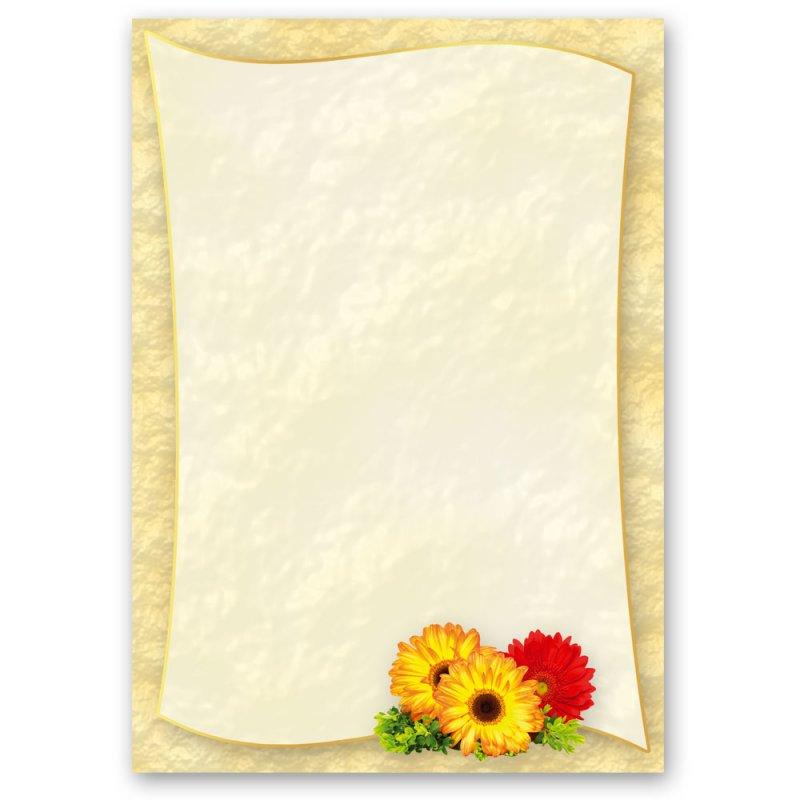 DIN A5 Format 50 Blatt Motiv-Briefpapier BLUMENBRIEF