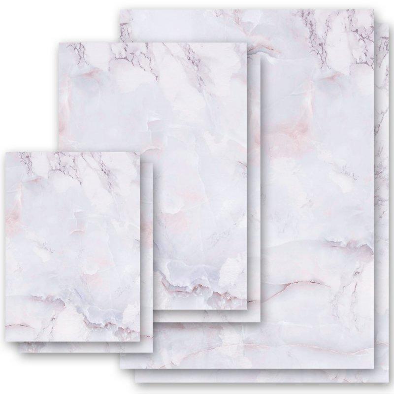 Briefpapier MARMOR BLAU DIN A6 Format 100 Blatt