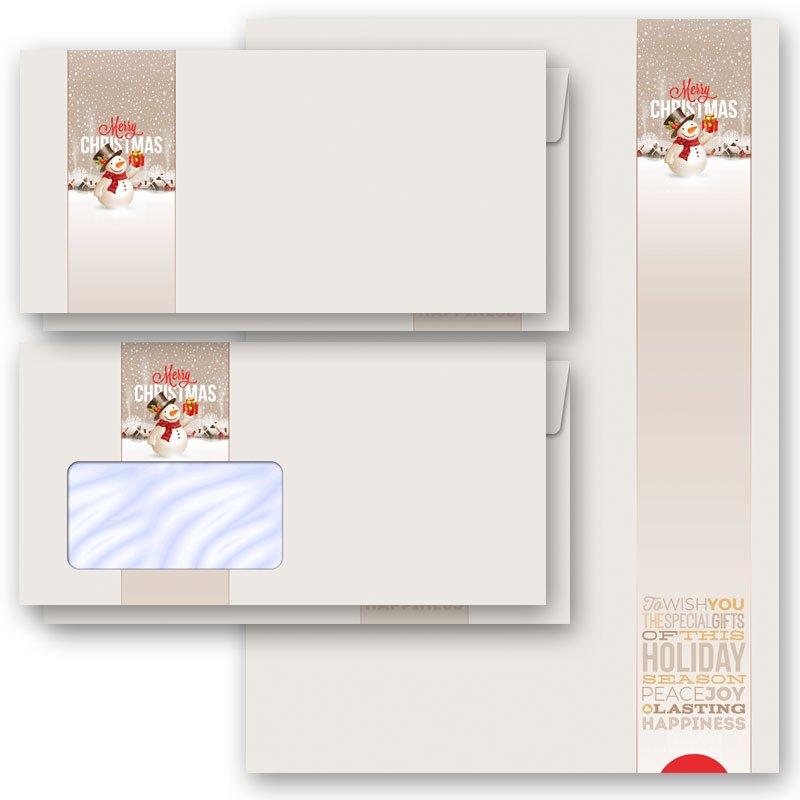 DL ohne Fenster Set Motiv-Briefpapier-Set FROHE WEIHNACHTEN 200-tlg