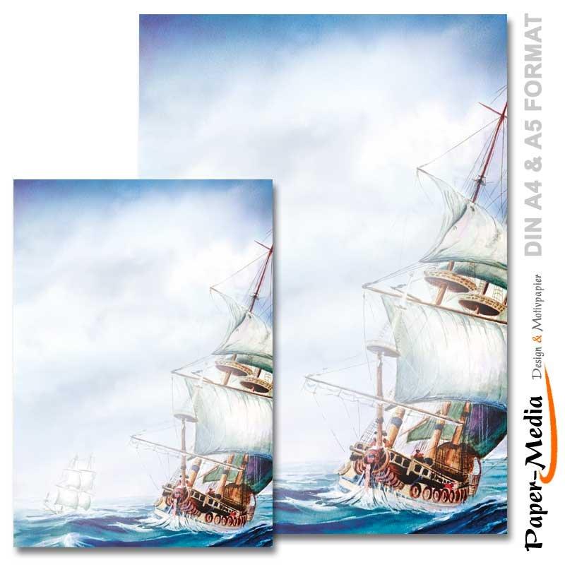 SANDBURG Motivpapier im Set 100//100 Blatt DIN A4 /& A5 Format