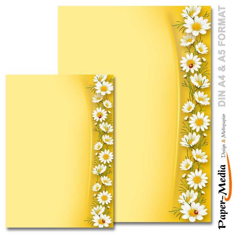 DIN A5 Format 100 Blatt Motiv-Briefpapier BLUMENPOST