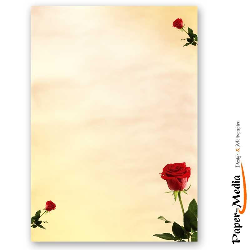 Briefpapier KIRSCHBL/ÜTEN 100 Blatt DIN A4 90g//m/² Motivpapier