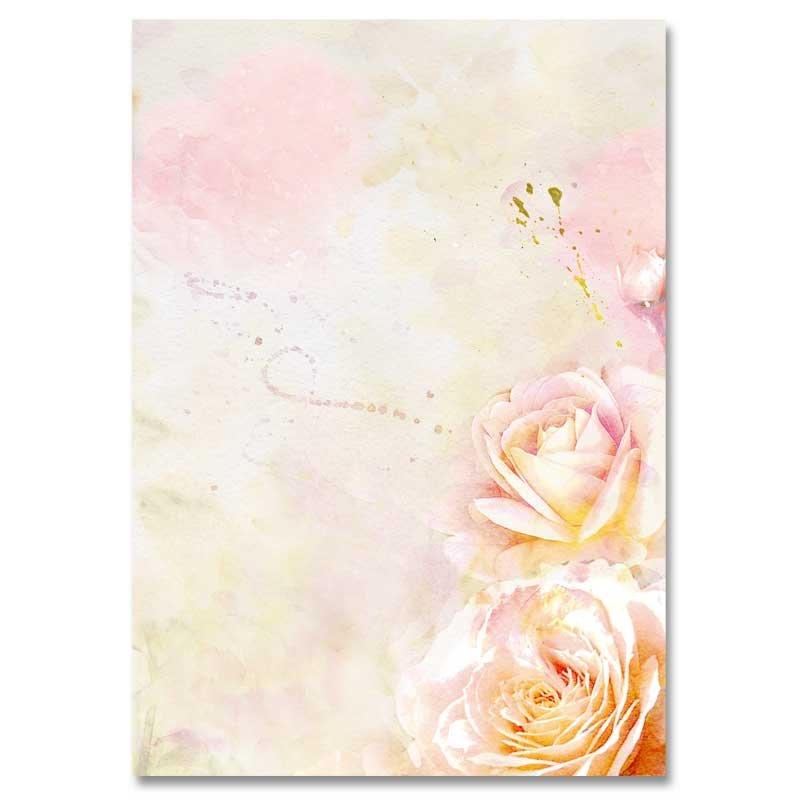 BACCARA ROSE 100 Blatt Motivpapier DIN A5 90g//m²