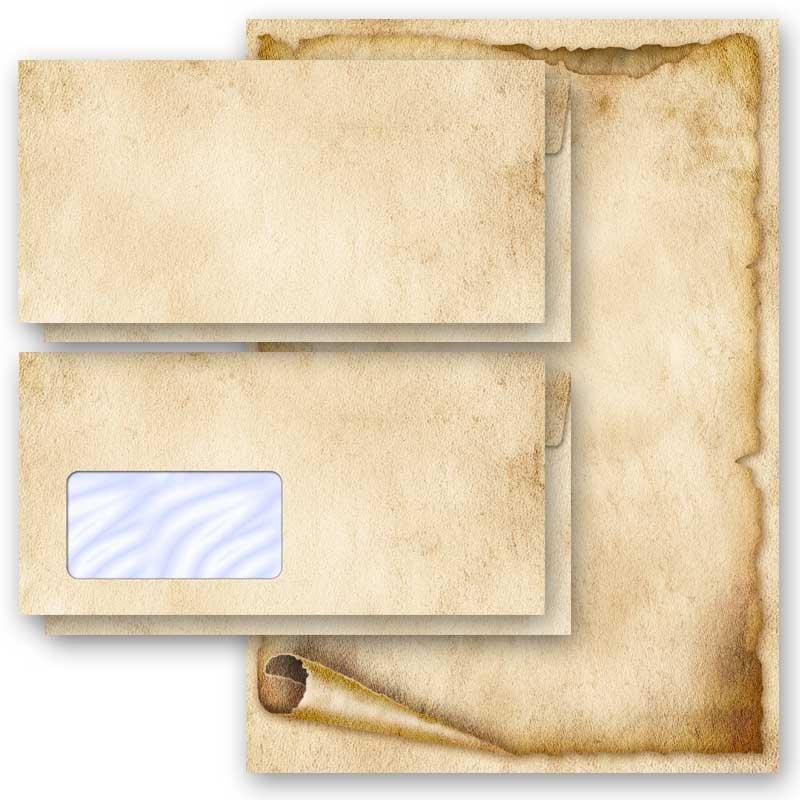 DL Briefpapier-Set 100-tlg OLD STYLE ohne Fenster