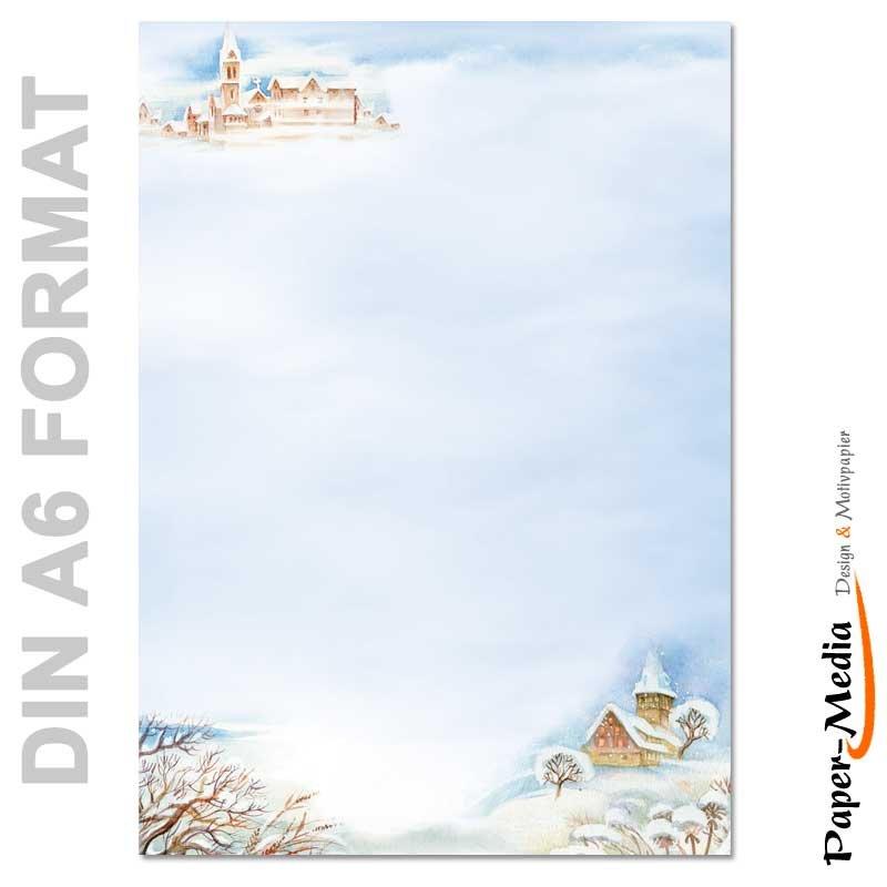 Motivpapier WINTERLANDSCHAFT 100 Blatt DIN A4 90g//m²