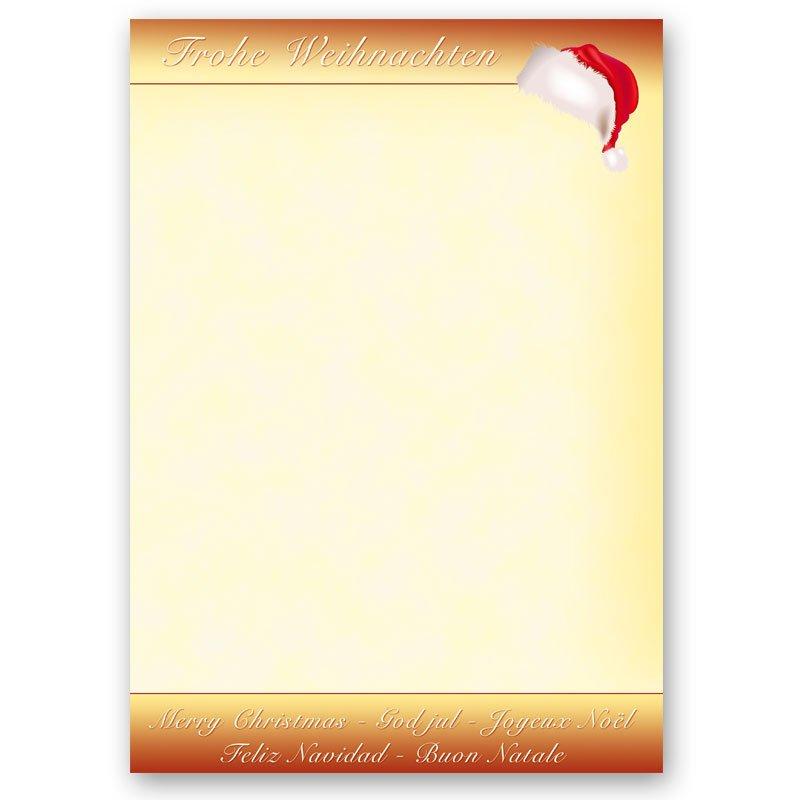 Motivpapier Weihnachten.Motivpapier Santa S Cap 50 Blatt Din A4 90g M