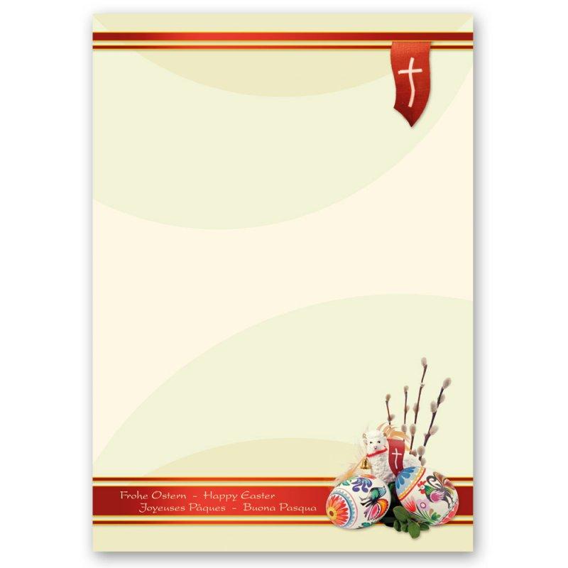 DIN A5 Format 50 Blatt Motiv-Briefpapier OSTERGARTEN