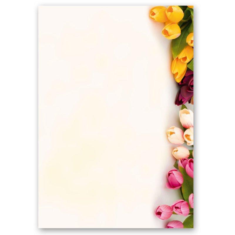Motiv-Briefpapier BLUMENGRÜSSE DIN A4 Format 20 Blatt
