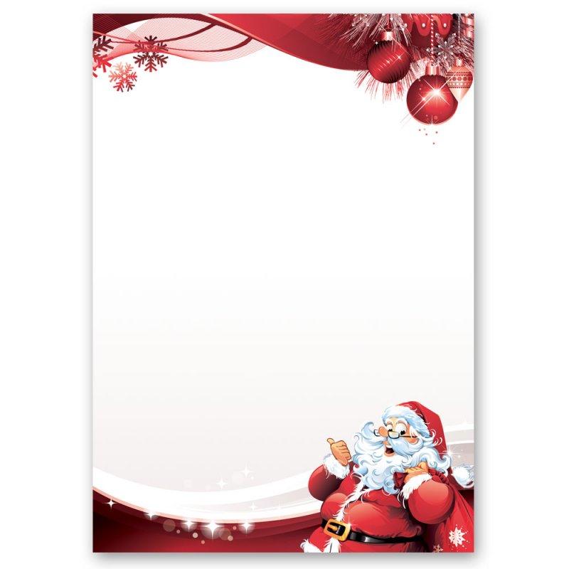 Briefpapier motivpapier brief an den weihnachtsmann - Briefpapier vorlagen kostenlos ...