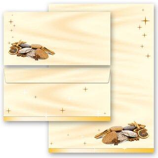 Spuren im Schnee weihnachtliches Motiv 10 Umschl/äge MIT FENSTER Briefumschlag DIN LANG Weihnachtsbriefumschlag