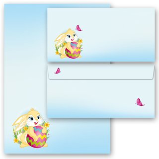 100-tlg. Briefpapier-Set OSTERHASE
