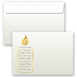 10 Stück C6 Motiv-Briefumschläge ALTES PAPIER ohne Fenster