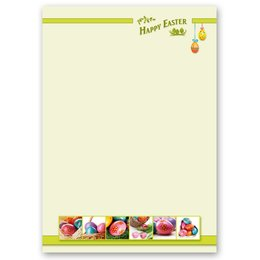 Briefpapier HAPPY EASTER - DIN A4 Format 20 Blatt