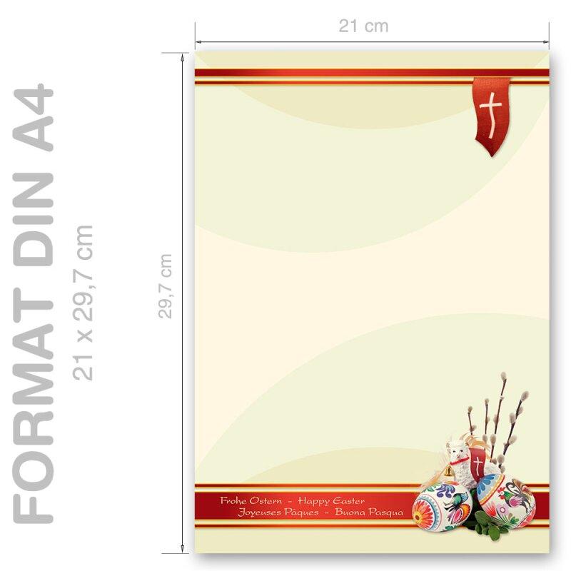 DIN A4 Format 20 Blatt Motiv-Briefpapier FROHE WEIHNACHTEN