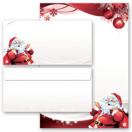 Briefpapier Set BRIEF AN DEN WEIHNACHTSMANN - 100-tlg. DL...