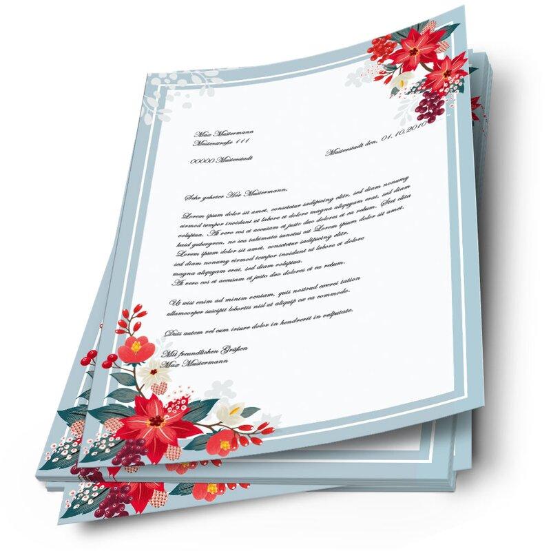 Motiv-Briefpapier HERBSTZWEIGE DIN A4 Format 20 Blatt