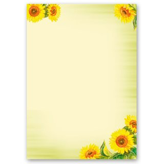 Briefpapier Set SUNFLOWERS - 40-tlg. DL (ohne Fenster)