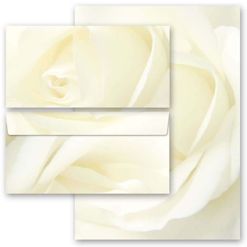 10 Briefumschläge Briefpapier Set 30-teilig 20 Blatt Briefpapier DIN A4