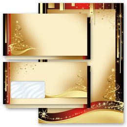 Motiv-Briefpapier-Sets Design WEIHNACHTSBRIEF