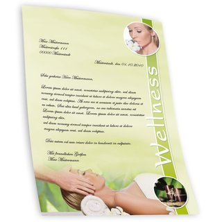 Briefpapier WELLNESS & BEAUTY - DIN A4 Format 250 Blatt