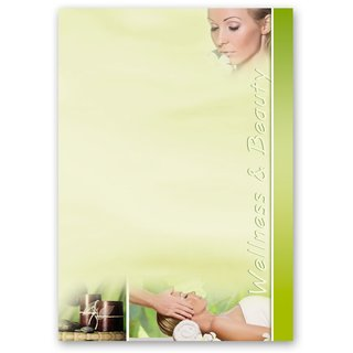 Briefpapier WELLNESS & BEAUTY - DIN A5 Format 250 Blatt