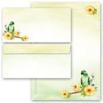 Briefpapier und Briefumschläge Grüner Papagei